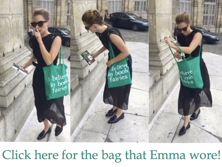 get emma watson i believe in book fairies bag
