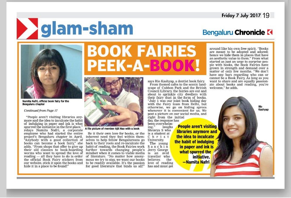 the book fairies bangalore newspaper