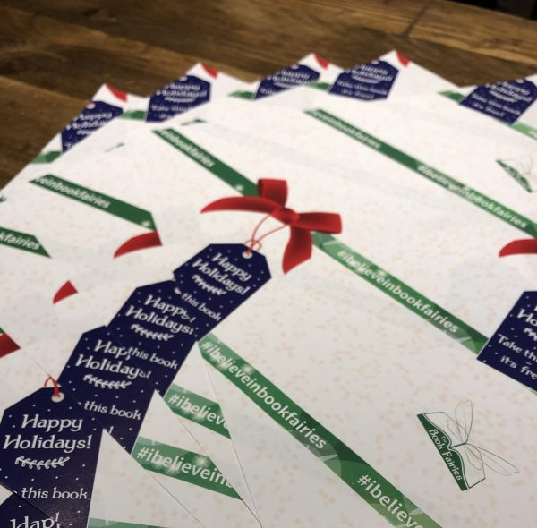 book fairy wrapping paper for the festive season