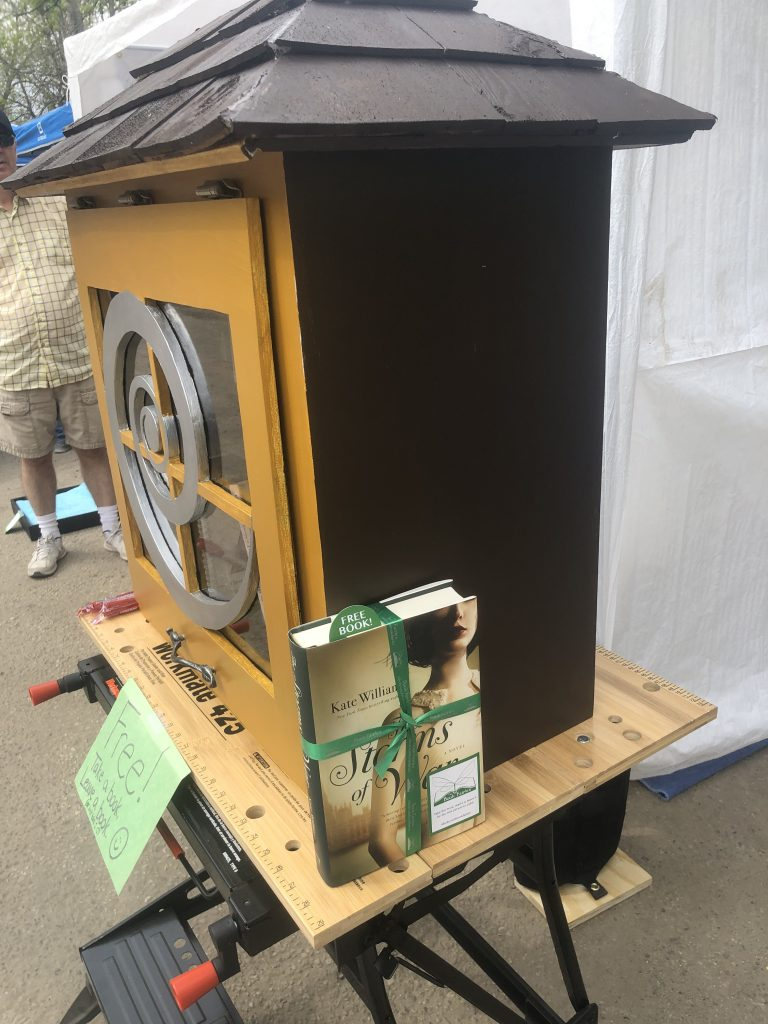 A little free library built by a book fairy in Saskatchewan