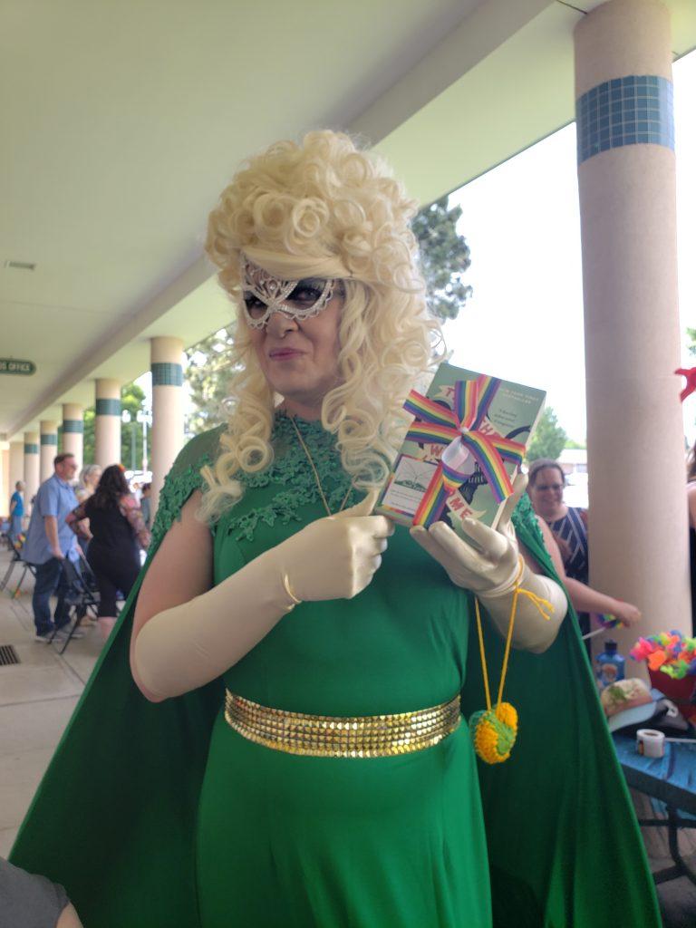 Los Alamos Pride celebration with a Book Fairy book
