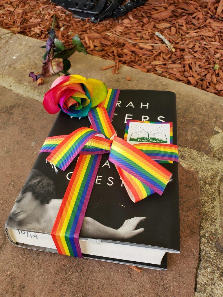 Book Fairies hide Sarah Waters book at Pride