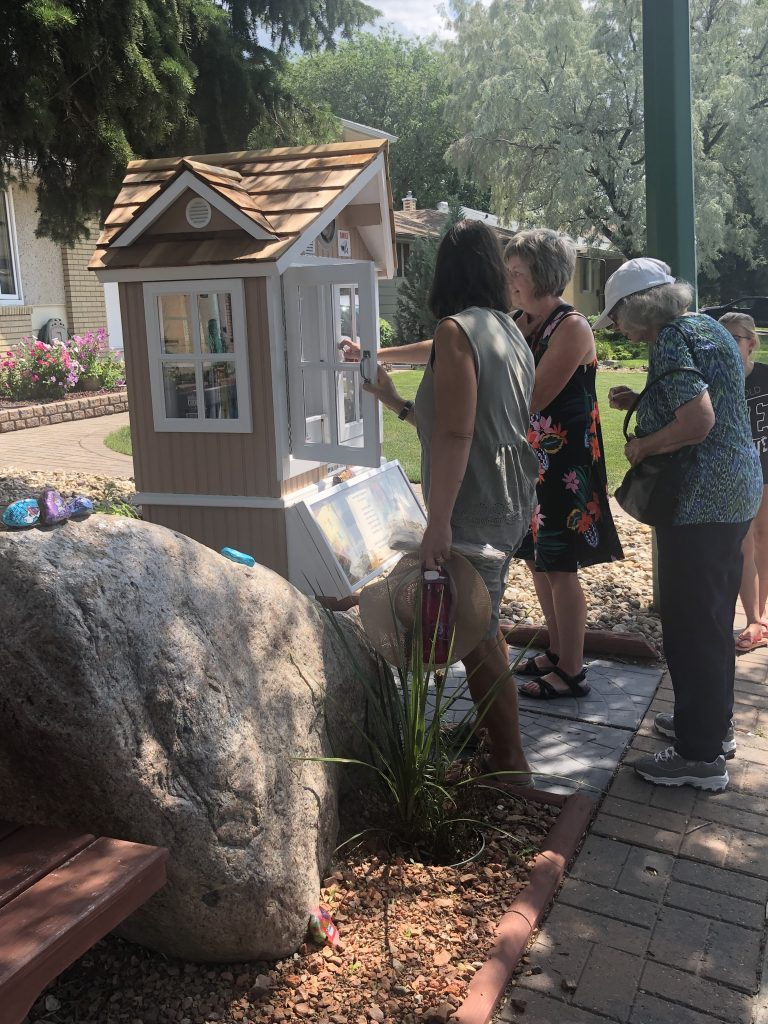 the opening ceremony of the new little free library and the book fairies
