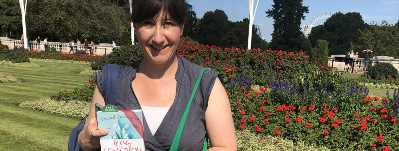 Author Hannah Beckerman hides copies of her book as a book fairy for a day