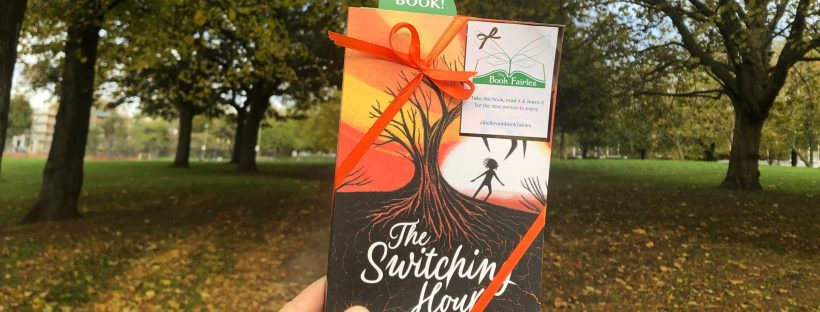The Book Fairies hide copies of Damaris Youngs The Switching Hour at Halloween