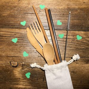 bamboo cutlery set from the book fairy box