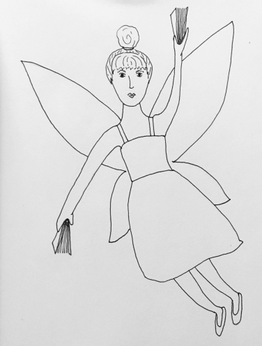 Book fairy to colour in