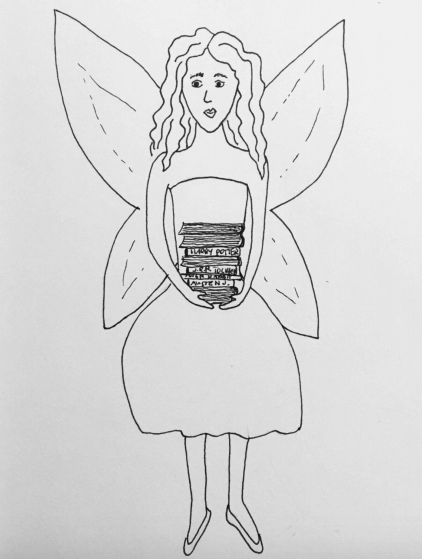 colour in this book fairy drawing
