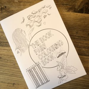 book fairy colouring book for book fairies in isolation