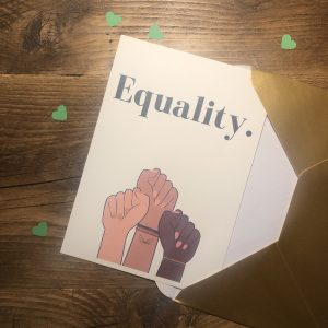 The Book Fairy Box goodies - a print to celebrate equality