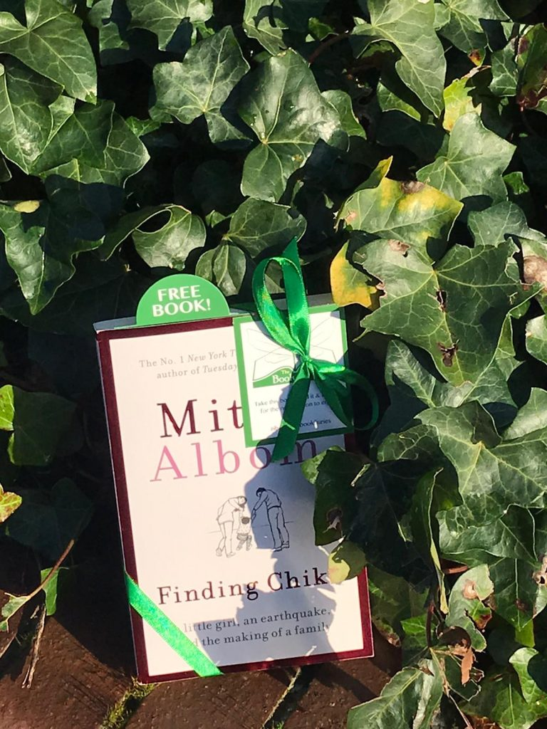 hiding in the ivy - Book Fairies hide copies of Mitch Albom novel Finding Chika