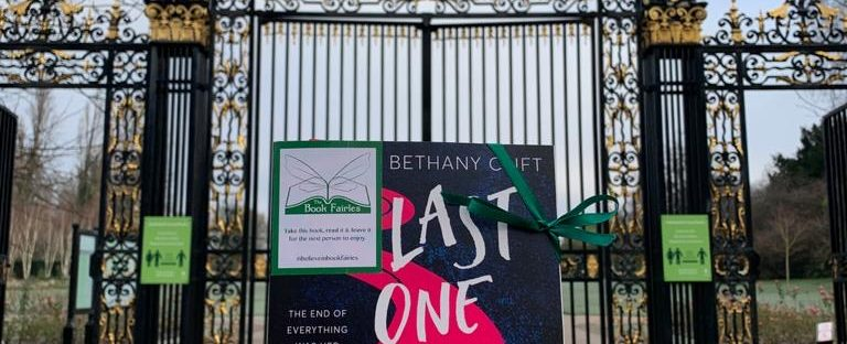the novel Last One at the Party was hidden by a book fairy in Regent's Park, London