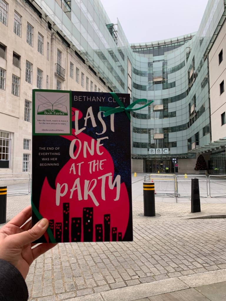 BBC Broadcasting House on Portland Place is featured in the novel Last One At The Party by Bethany Clift - so the book fairies hid a copy there