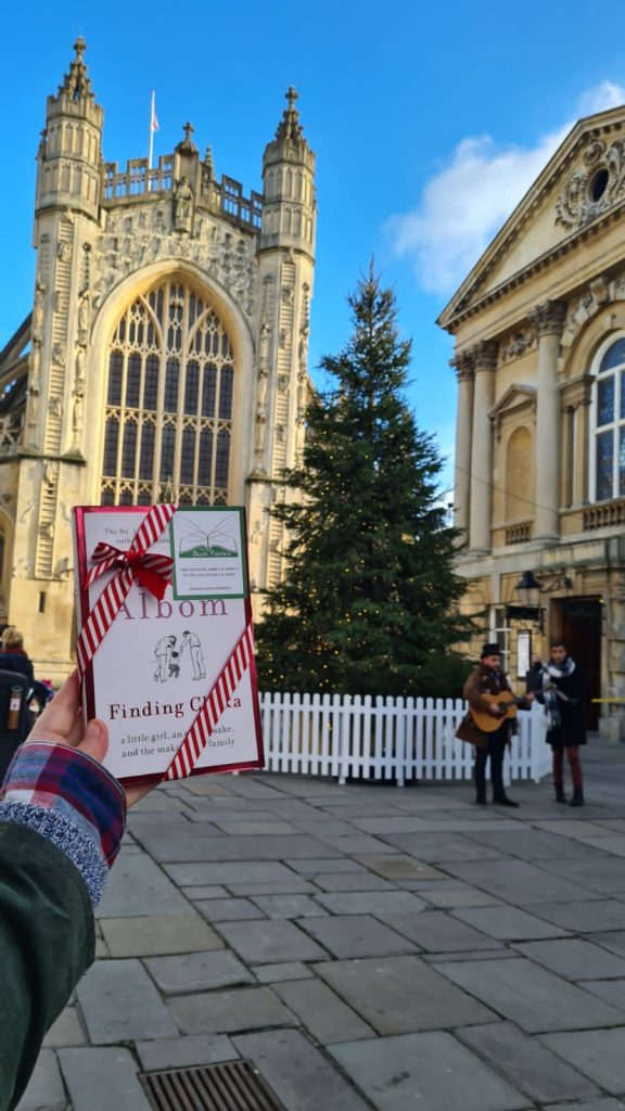 hiding in oxford - Book Fairies hide copies of Mitch Albom novel Finding Chika