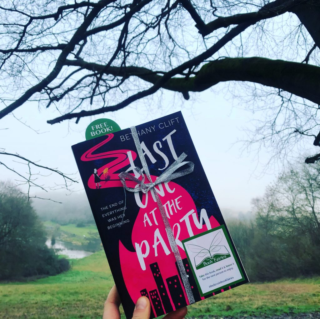 Last One at the Party by Bethan Clift hidden by a book fairy in the UK