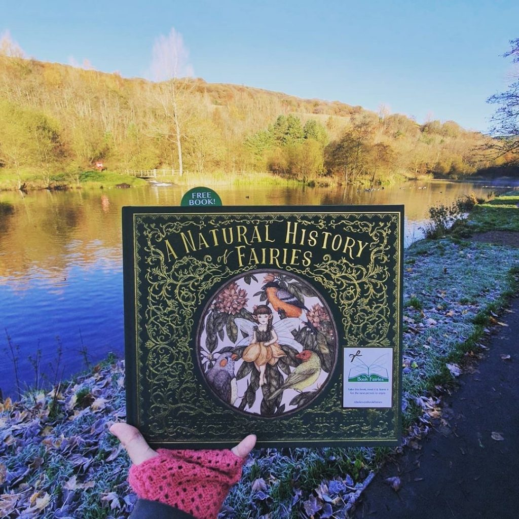 beautiful pic at a lake in Wales - The Book Fairies hide copies of The Natural History of Fairies