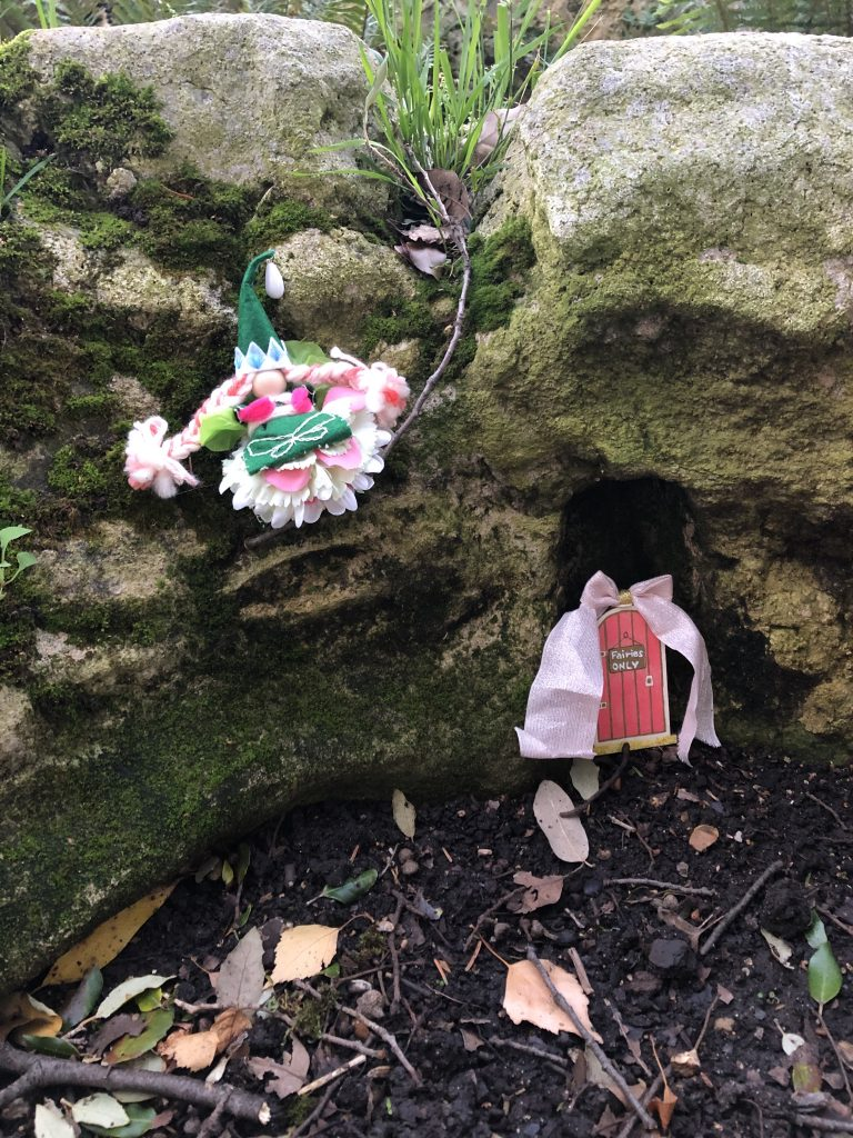 fairy door - The Book Fairies hide copies of The Natural History of Fairies
