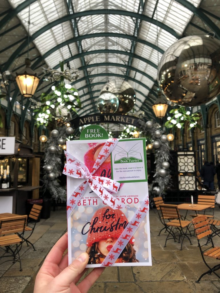 Covent Garden London - Book Fairies hide copies of All I Want For Christmas by Beth Jarrod