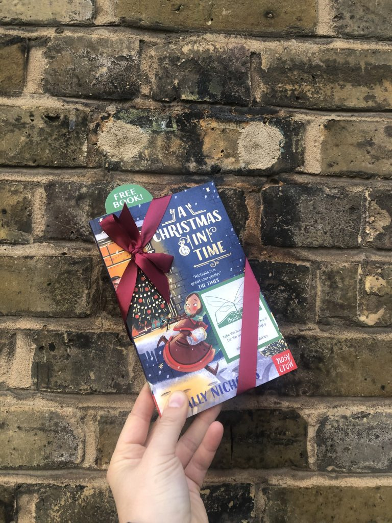 hiding in london UK - The Book Fairies hide copies of A Christmas in Time with Nosy Crow Publishing
