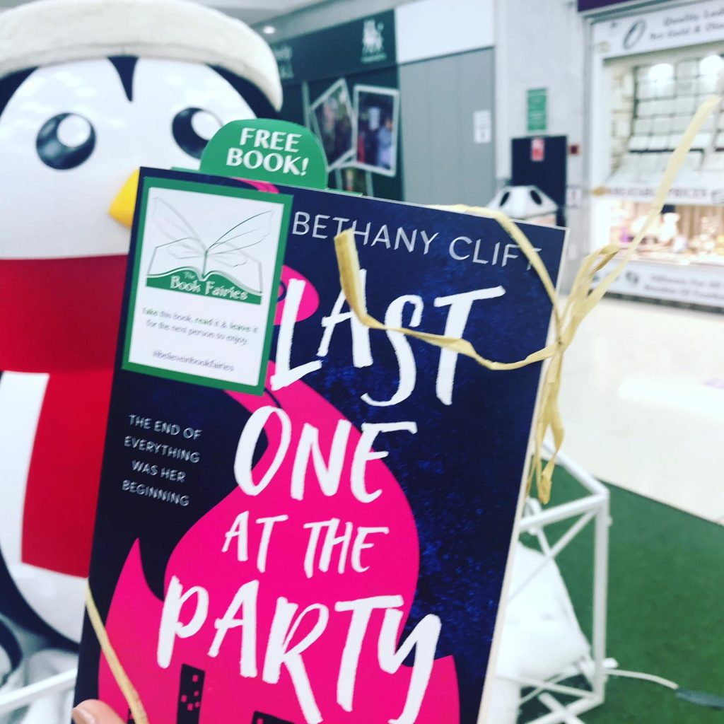 Last One At The Party by Bethany Clift hidden by book fairies in Cheshire UK