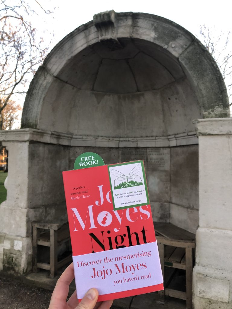 Hiding in London The Book Fairies hide copies of JoJo Moyes' Night Music