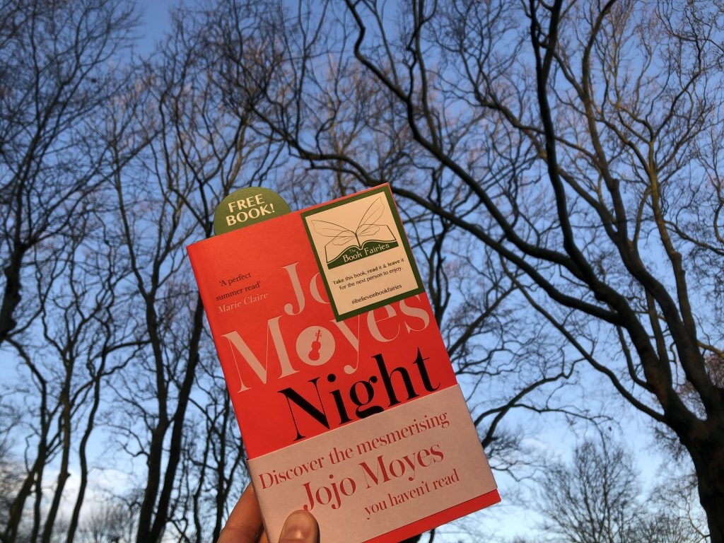 hiding outside - The Book Fairies hide copies of JoJo Moyes' Night Music