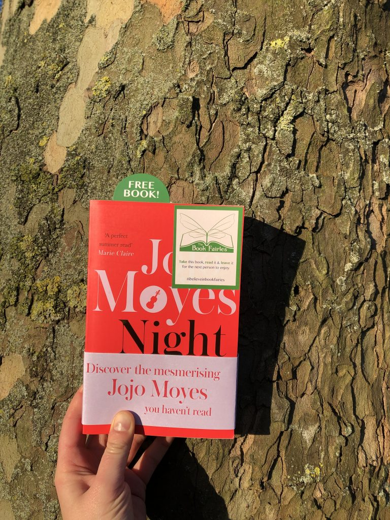 Hiding in a Park: The Book Fairies hide copies of JoJo Moyes' Night Music