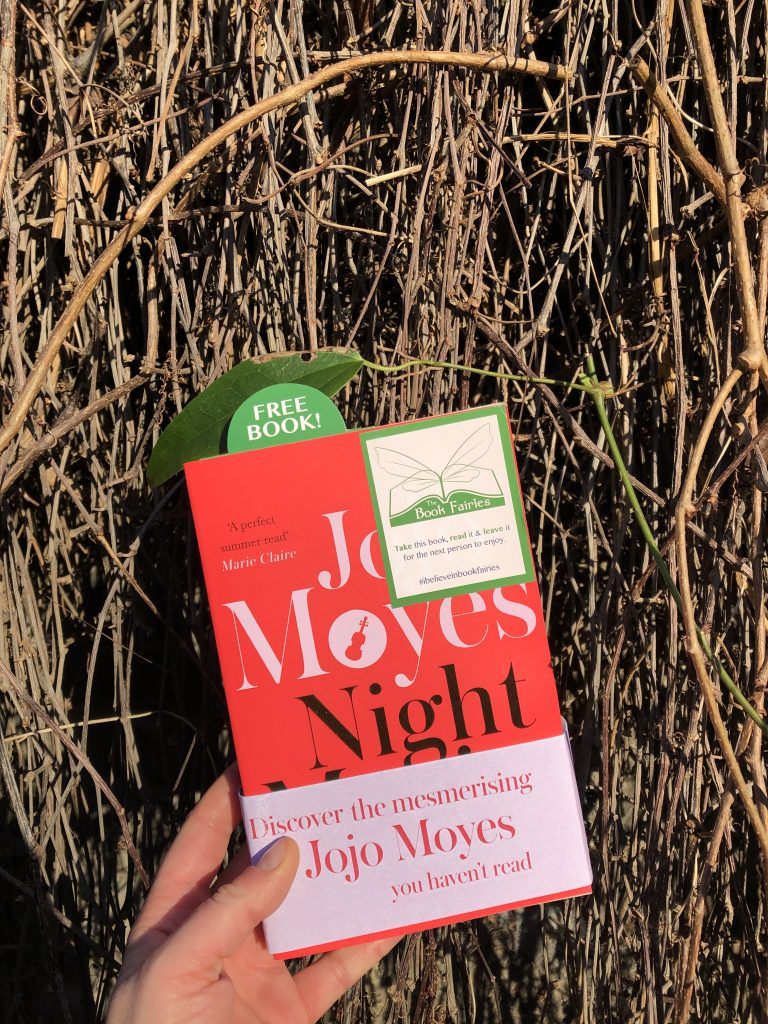Hiding in London: The Book Fairies hide copies of JoJo Moyes' Night Music