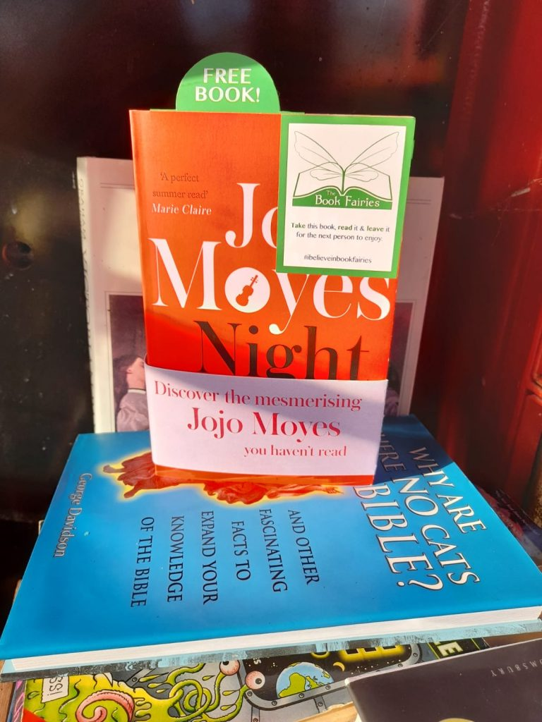 Hiding in a book share - The Book Fairies hide copies of JoJo Moyes' Night Music