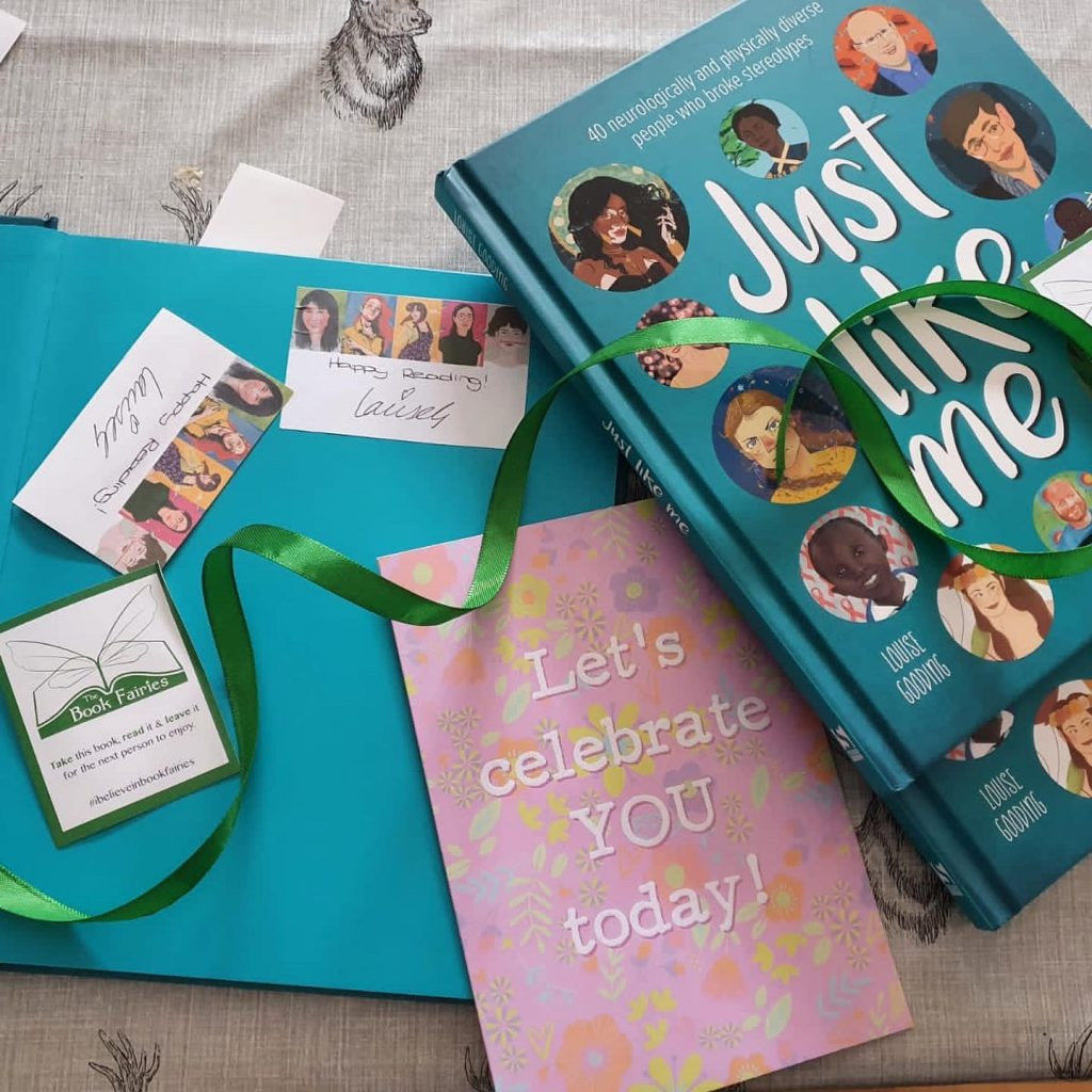 Preparing the books - The Book Fairies hide Louise Gooding debut Just Like Me