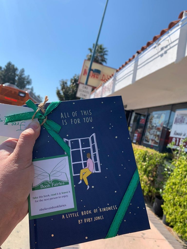 In sunny California - Book Fairies hide copies of All Of This Is For You by Ruby Jones