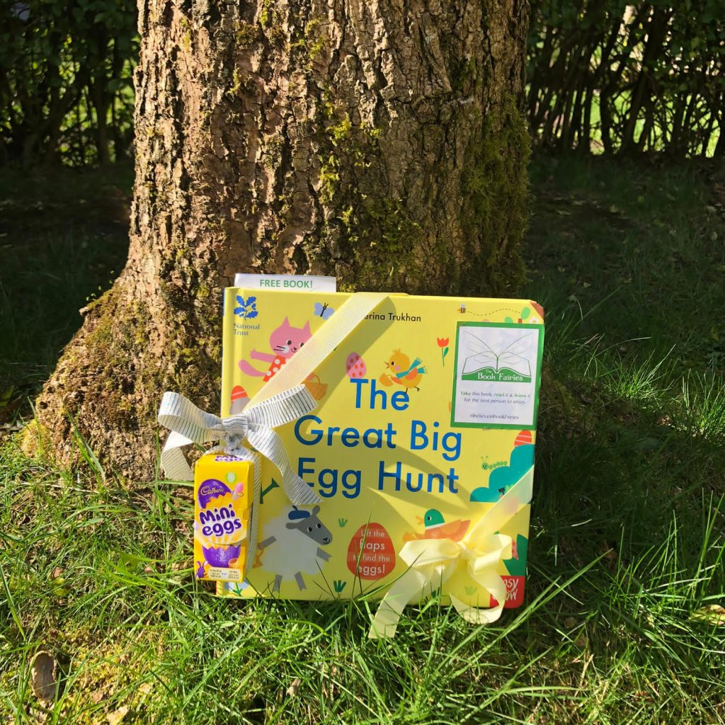 Hiding in Glasgow - Book fairies hide copies of National Trust title 'The Great Big Easter Hunt'