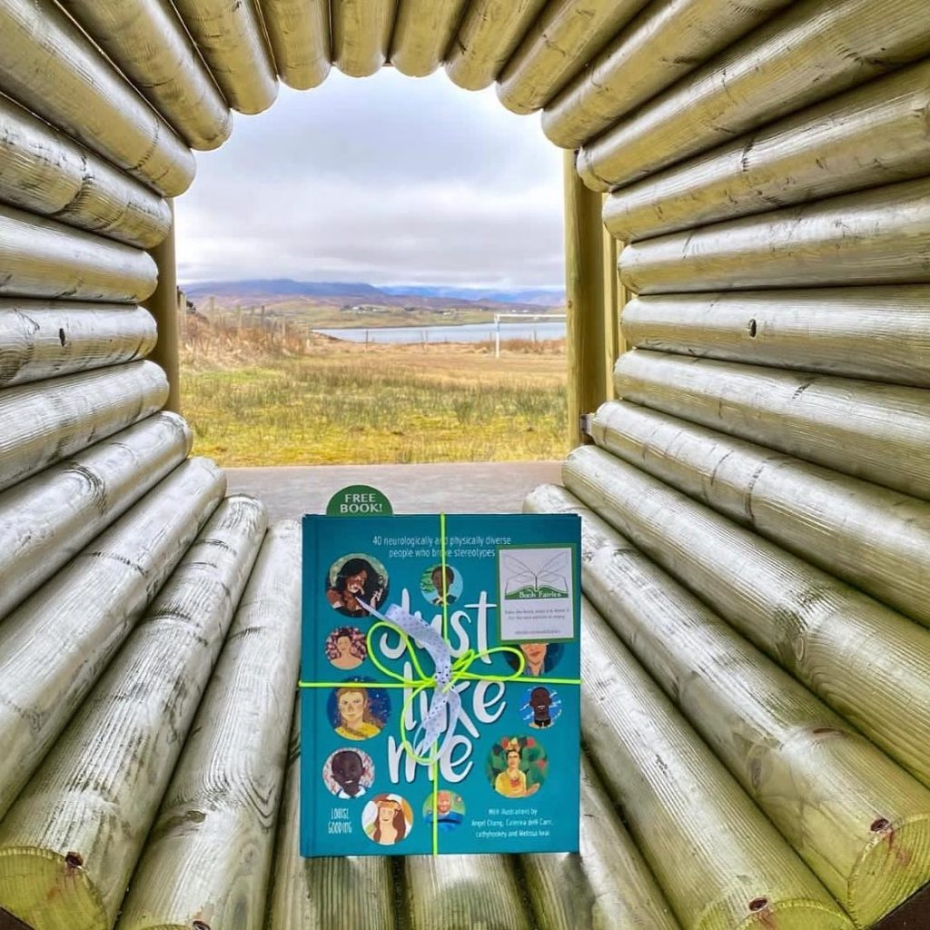 In a playground in Wales - The Book Fairies hide Louise Gooding debut Just Like Me