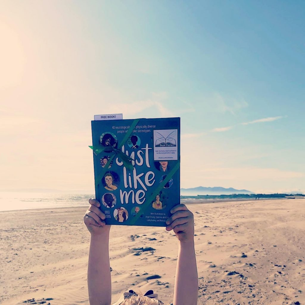 Hiding on the beach! The Book Fairies hide Louise Gooding debut Just Like Me