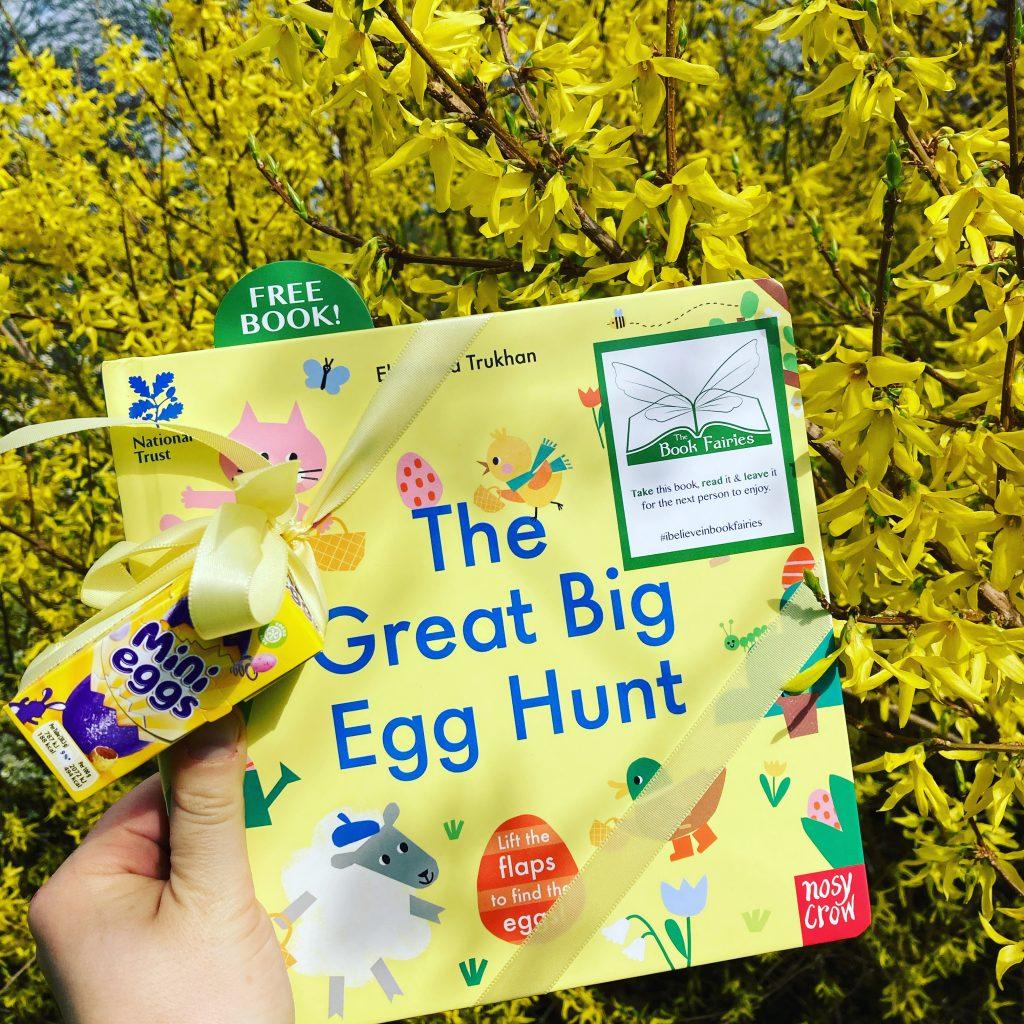 Hiding by the bloom - Book fairies hide copies of National Trust title 'The Great Big Easter Hunt'