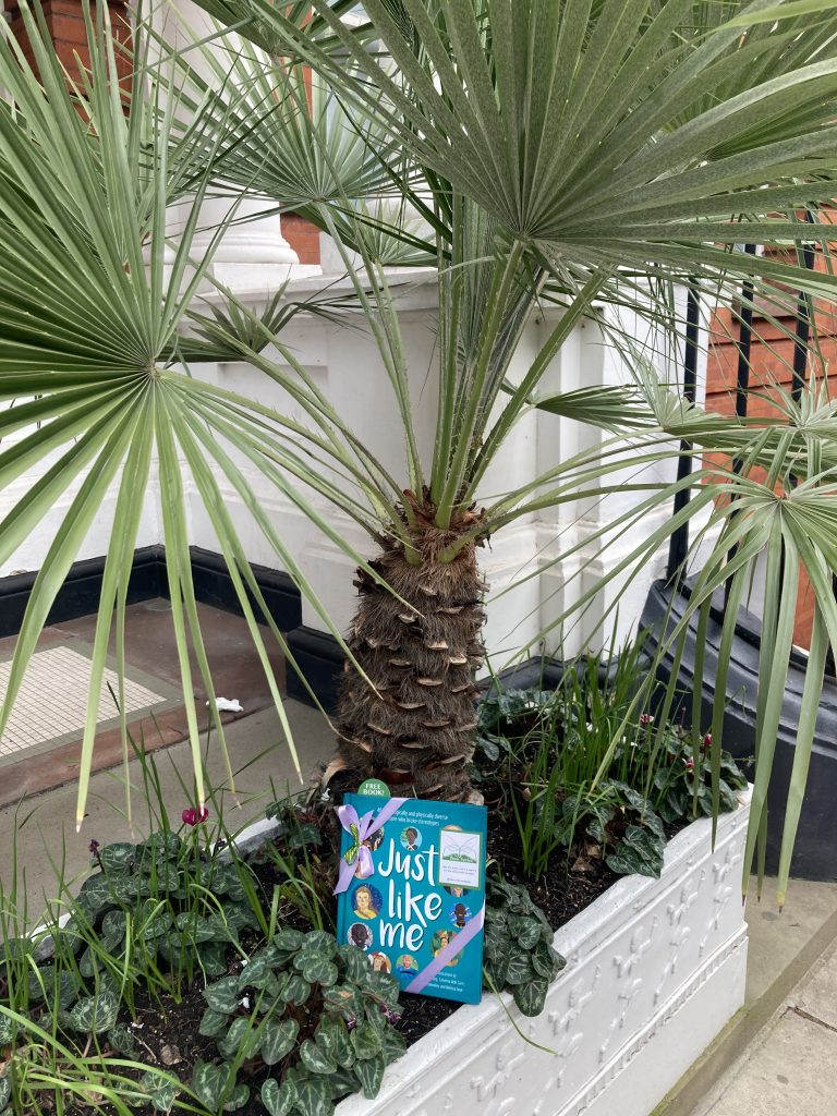 Waiting near Great Ormond Street - The Book Fairies hide Louise Gooding debut Just Like Me