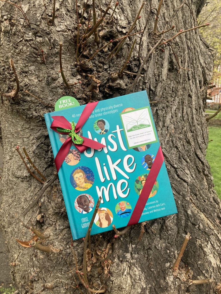 Hiding in a tree in London - The Book Fairies hide Louise Gooding debut Just Like Me