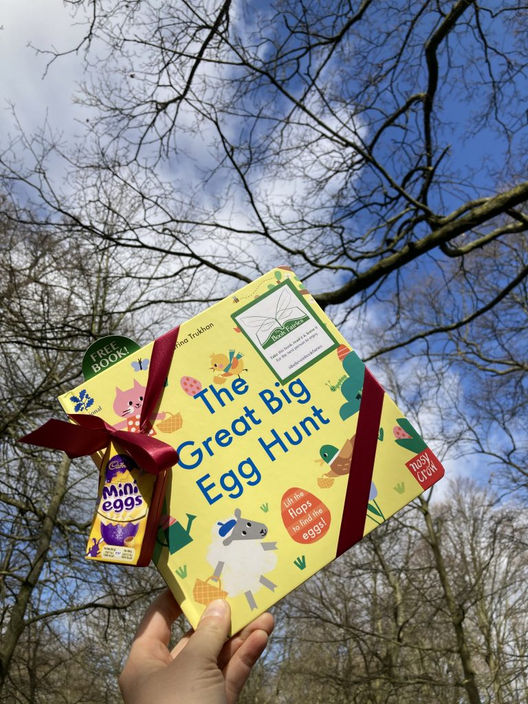 Hiding in Regents Park - Book fairies hide copies of National Trust title 'The Great Big Easter Hunt'
