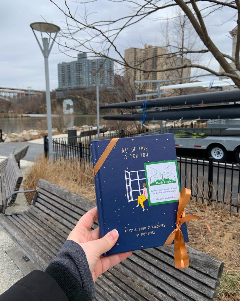 Hiding in New York: Book Fairies hide copies of All Of This Is For You by Ruby Jones