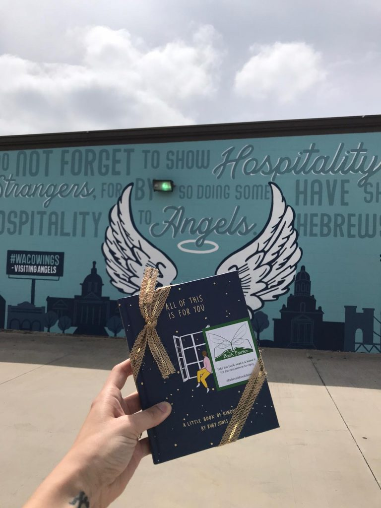 Hiding in Cincinnati: Book Fairies hide copies of All Of This Is For You by Ruby Jones