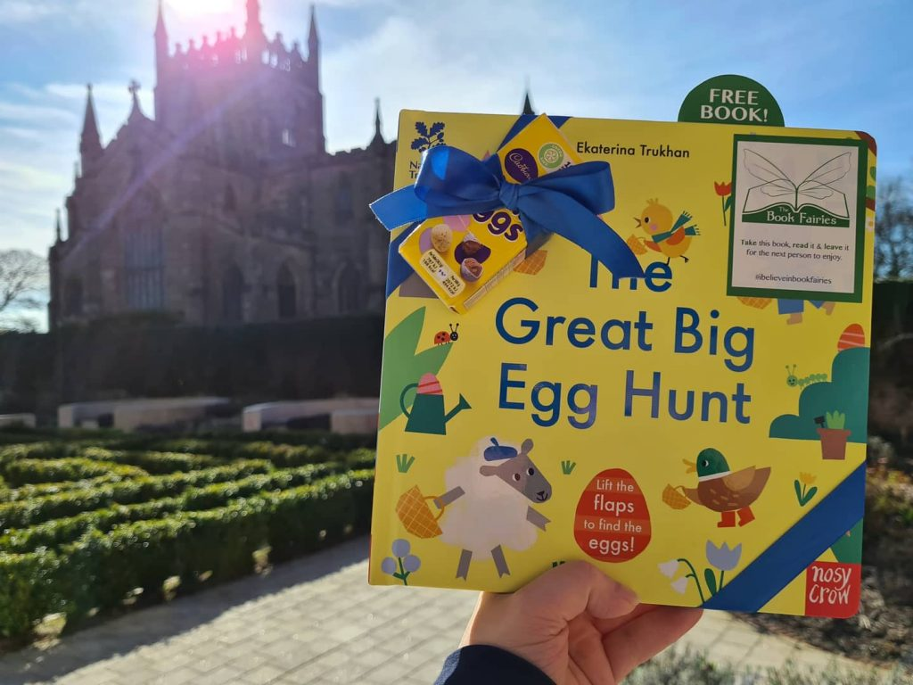 Beside a castle! Book fairies hide copies of National Trust title 'The Great Big Easter Hunt'