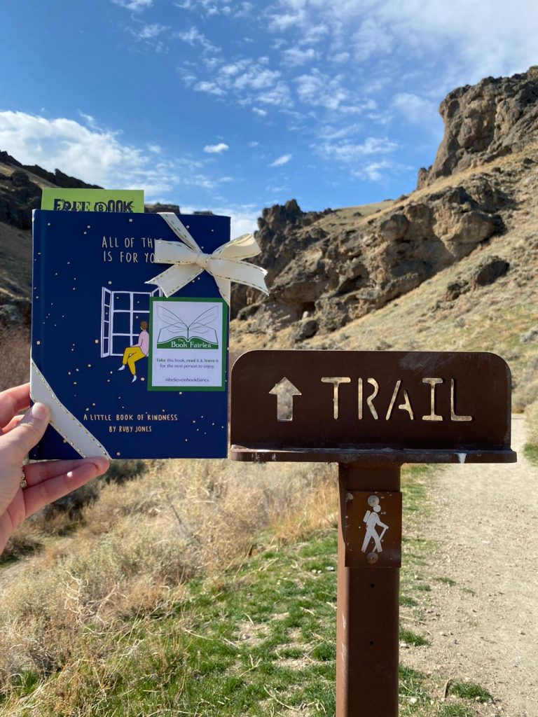 Hiding in Idaho: Book Fairies hide copies of All Of This Is For You by Ruby Jones