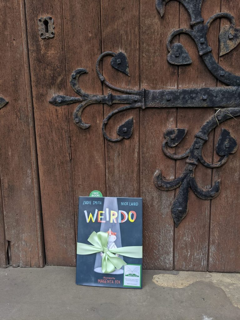 At a church in London - Book fairies hide Zadie Smith's first children's book Weirdo around the UK