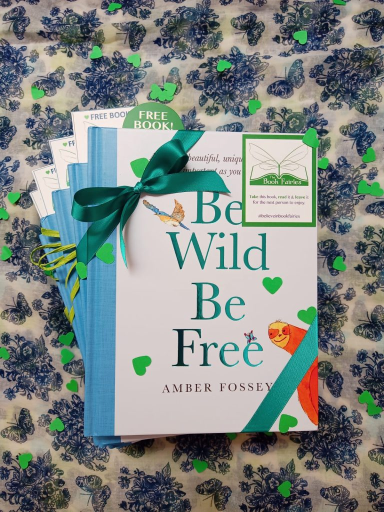 Preparing to hide books - Book fairies around the states hide Be Wild Be Free by Amber Fossey