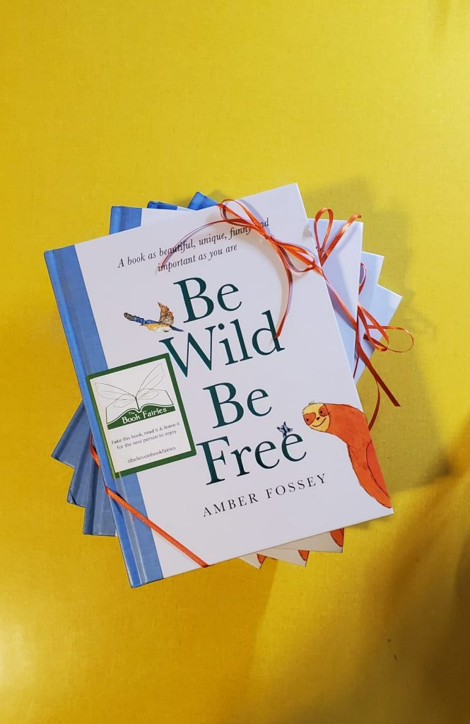 Preparing the books - Book fairies around the states hide Be Wild Be Free by Amber Fossey