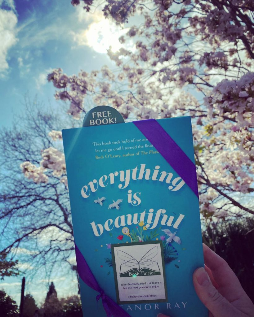 Gorgeous sunshine in Shropshire - Book Fairies hide copies of Everything is Beautiful by Eleanor Ray