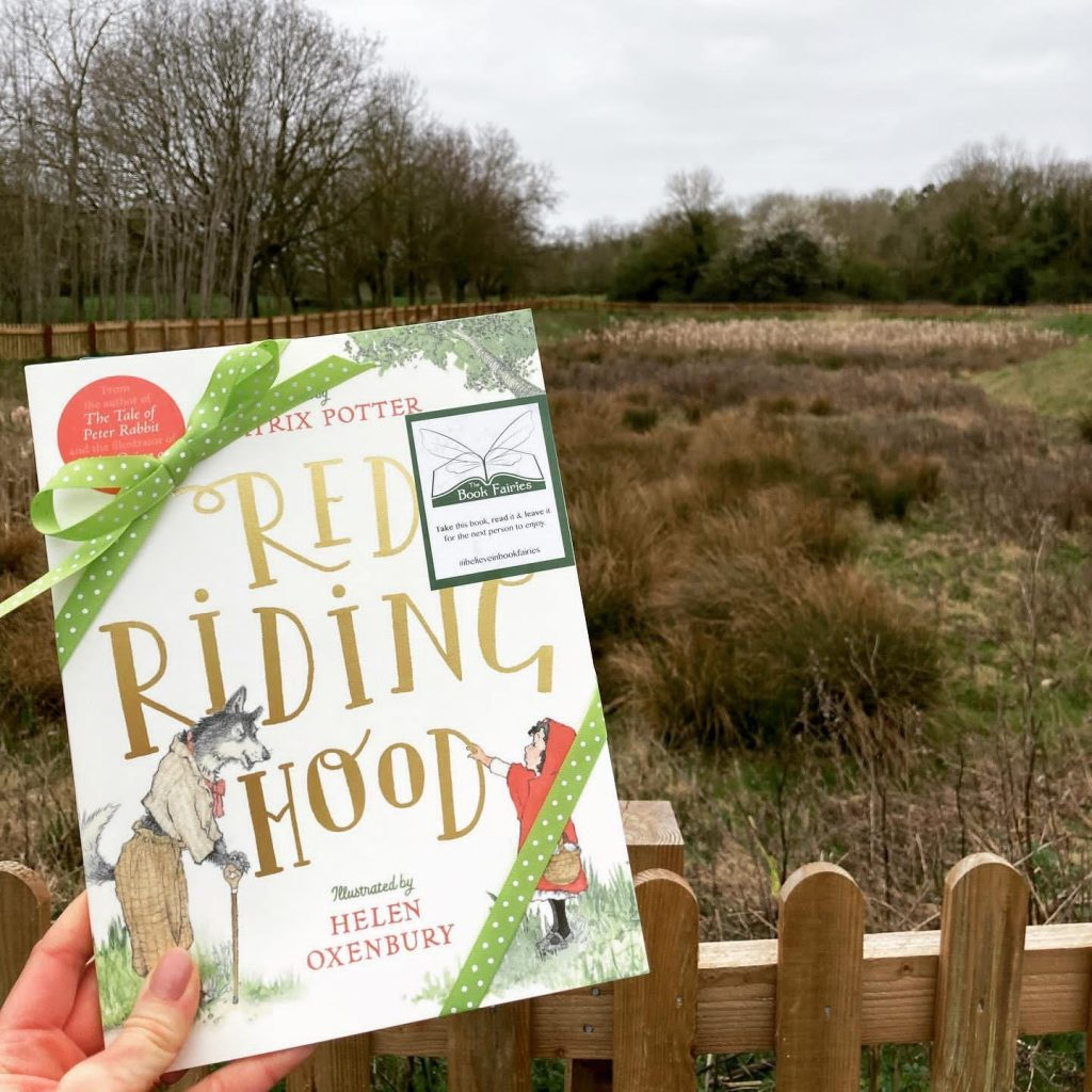 Hiding in Cambridgeshire - Book Fairies hide copies of Red Riding Hood by Beatrix Potter and Helen Oxenbury