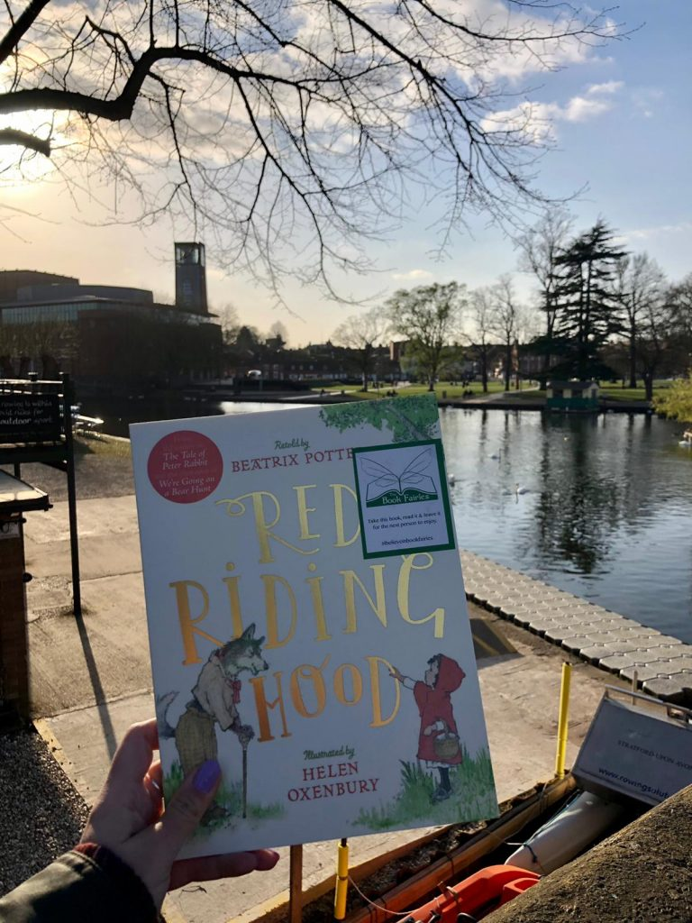 Hiding in Warwickshire - Book Fairies hide copies of Red Riding Hood by Beatrix Potter and Helen Oxenbury