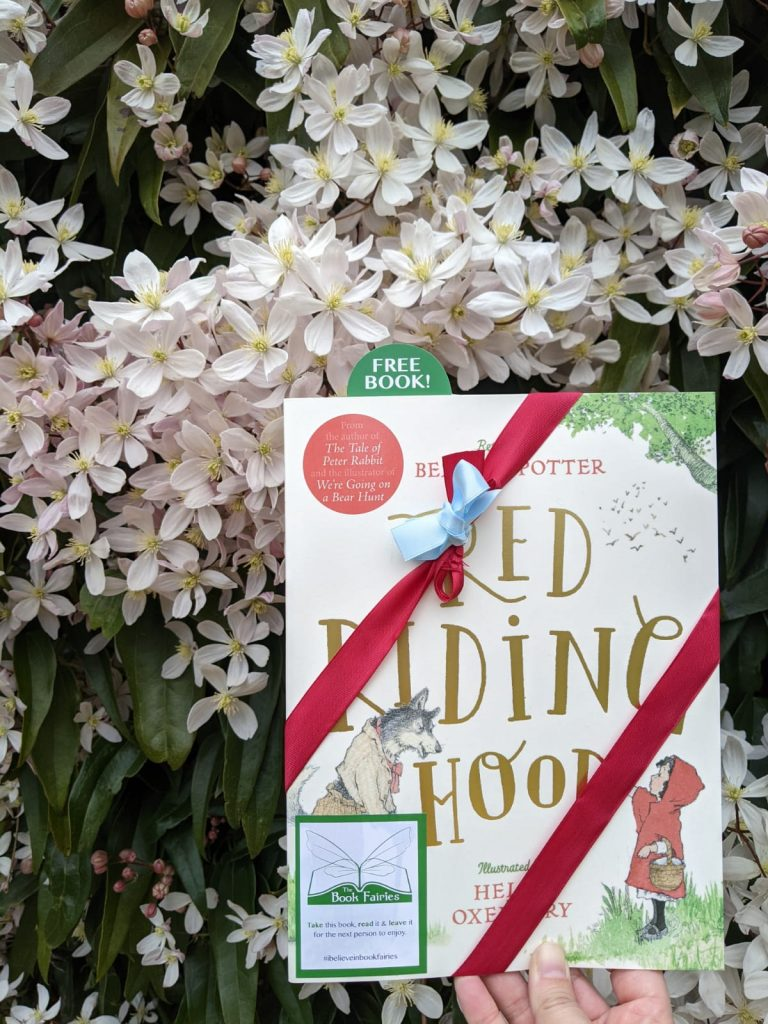 Hiding in London - Book Fairies hide copies of Red Riding Hood by Beatrix Potter and Helen Oxenbury
