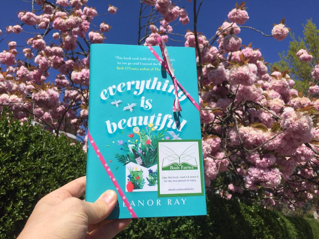 With the blossom - Book Fairies hide copies of Everything is Beautiful by Eleanor Ray